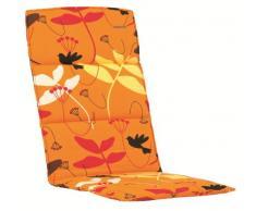 Kettler 0308403–8637 Coussin pour tabouret 50 x 50 x 3 cm Orange à motifs