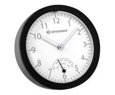 Bresser 8020115CM3QUA MyTime Bath Mini Horloge de bain Plastique Noir 14 x 3,5 x 14 cm