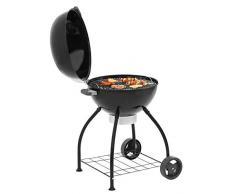 Dehner Vancouver 60 Barbecue à Charbon de Bois Dimensions : 105 x 76 x 75 cm, Surface de Cuisson : Ø 60 cm, Aluminium/Acier Inoxydable/métal, Noir