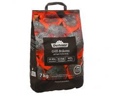 Dehner Premium Briquettes pour Barbecue, 7 kg, Noir, 28 x 15 x 48 cm