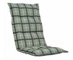 Kettler 0309507-8730 Coussin pour chaise empilable 110 x 50 x 8 cm (Carreaux) (Import Allemagne)