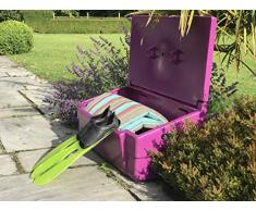 Coffre de rangement multiusage intérieur/extérieur 100L - Couleur : violet - Fabrication française