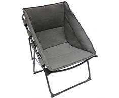Homecall Chaise de camping pliable et rembourrée (Gris)