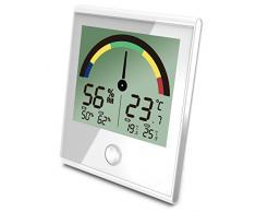 Koch Hygromètre de Cuisson avec Couleur Scala, thermomètre électronique, Blanc, 10 x 10 x 3 cm