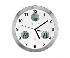 Bresser MyTime Io horloge murale radio pilotée ultra silencieux, blanc