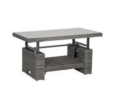 greemotion Bari Table de Jardin, Anthracite, ca. 130 x 49/68 x 75 cm