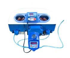 Borotto REAL 49 Plus Expert - Incubateur automatique professionnel breveté, matériau thermo-isolant avec antibactérien, avec humidificateur automatique Sirio - pour 49 œufs ou 196 petits œufs