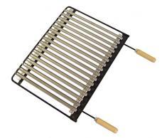 IMEX EL ZORRO 71633 Grille de Barbecue en INOX 49 x 41 cm