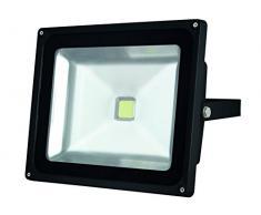 Perel Puce Epistar Projecteur LED pour Les aussenbereich, 50 W, 3000 K, 29 x 24 x 15 cm, Noir, leda3005ww/B