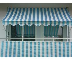 Angerer Auvent en Tissu PE Motif à Rayures Bleu 150 cm Mehrfarbig
