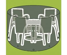 Siena Garden Housses pour table de pique-nique et les chaises et les chaises longues Tissu en polyéthylène Plat Diamètre 200 x H 96 cm, transparent
