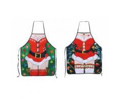 Tablier de cuisine: Père Noël et bisous /2
