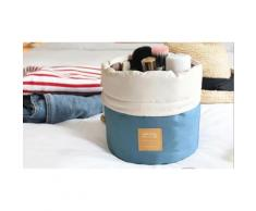 1 trousse cosmétique de voyage cylindrique - Bleu
