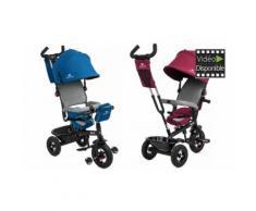 Tricycle poussette 3 roues 2 en 1 Kinderkraft - Bleu