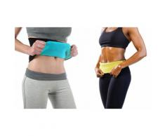 2 ceintures sauna minceur L/XL - Bleu/jaune