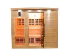 items-france APOLLON 5 PL - Sauna infrarouge apollon 5 places 220x160x190cm