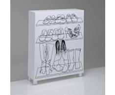Armoire à chaussures, Aderfi motif sérigraphié - La Redoute Interieurs