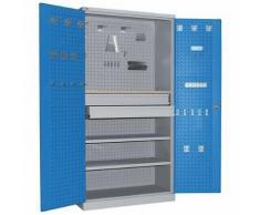 armoire d'atelier à tiroirs nb tir.:2 acier / bois,