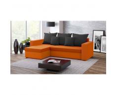 JUSThome FRESH I Canapé d'angle Noir Orange IV