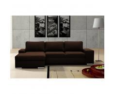JUSThome IMPULS Canapé d'angle en cuir 270x168 Brun