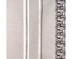 Madura Voilage de vitrages MYSTERE Marron foncé 62x280 cm Gris Madura