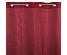 Madura Voilage à oeillets CINNAMON Bordeaux 145x280 cm Rouge Madura