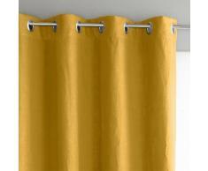 AM.PM - Rideau lin lavé doublé, à œillets, Private . Jaune AM.PM.