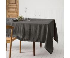 NAPPE CARREE 170X170 CM LINGE DE TABLE LIN TERRE D'OMBRE Gris Degrenne