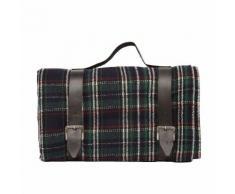 Couverture en laine à carreaux écossais Rouge Harrington