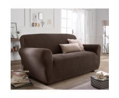 La Redoute Interieurs - Housse extensible pour fauteuil et canapé AHMIS . Marron La Redoute Interieurs