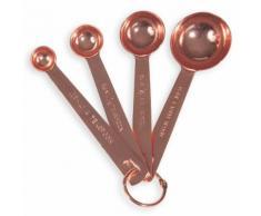 4 cuillères doseuses en métal COPPER