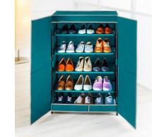 Armoire à chaussures 15 paires - bleu