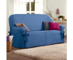 Housse canapé nouettes préformée bachette - bleu