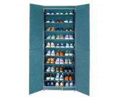 Armoire à chaussures 30 paires - bleu