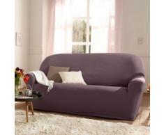 Housse unie extensible fauteuil canapé - violine