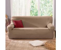 Housse unie extensible fauteuil canapé - taupe