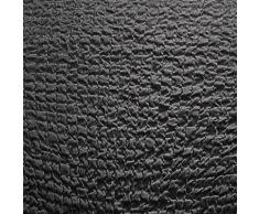Housse gaufrée bi-extensible canapé d'angle - anthracite