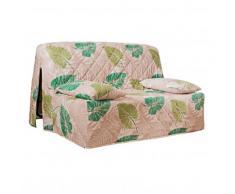 Housse canapé BZ imprimé végétal - vert