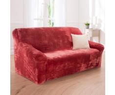 Housse microfibre extensible fauteuil canapé - framboise