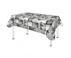 Nappe protège-table imprimée galets - gris