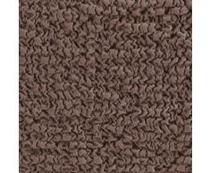 Housse gaufrée bi-extensible canapé d'angle - chocolat