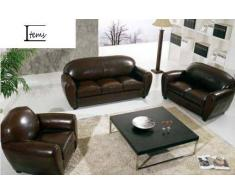 items-france CLUB 3+2 - Canape cuir 5 places 215x90 160x90