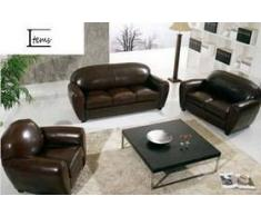 items-france CLUB 3+2+1+1 - Canape cuir 7 places 215x90 160x90 110x90