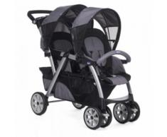 Poussette double Together Chicco Coal Gris et Noir