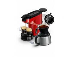 Machine à café à dosettes et filtre Philips Senseo® Switch HD7892/81 Rouge