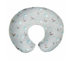 Coussin d'allaitement Chicco Boppy House Coton Gris et Bleu