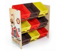 Meuble de rangement étagère jouet panier chambre enfant motif pirate APE06006 - Objet à poser