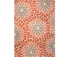 Tapis contemporain Esprit Lotus motif Floral Orange 200x200 - Tapis et paillasson