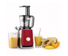Klarstein Sweetheart Extracteur de jus Slow Juicer 150 W 32T/mn - rouge - Accessoires Petit-déjeuner / Expresso et cafetière