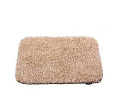 Tapis de bain classique à poils longs en Polyester 50 x 80 cm Beige - Accessoires de bain